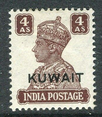 KUWAIT;  1945 early GVI issue fine Mint hinged 4a. value