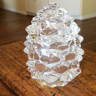 Gorgeous Tiffany & Co. Pinecone Shape Crystal Candy Dish - Mint