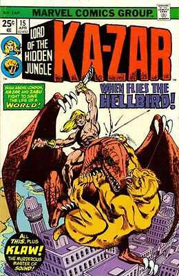 Ka-Zar (1974 series) #15 in Very Fine condition. FREE bag/board