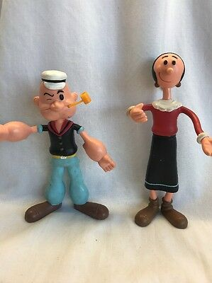 1993 KFS Popeye and Olive Oyl Bendable Poseable Toys Figures NOS Vintage