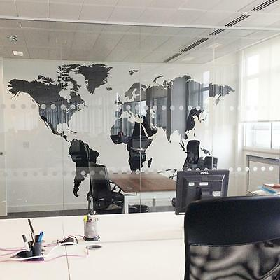 Fashion World Map Removable Vinyl Wall Sticker Home Office Art Wall Decal Hot