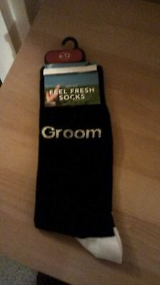 Groom/Father of Groom/Father of Bride/Best Man/Mens Socks/Size 6-9/Wedding/Gift