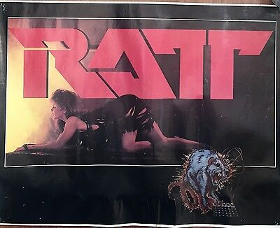 Vintage Very Rare Ratt Poster Out Of The Cellar