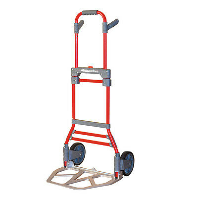 Milwaukee 300-lb Capacity Red Aluminum Folding Hand Truck Dolly Trolley Luggage
