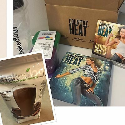 Beachbody Country Heat Fitness Workout DVD's, Containers, Cup 30 Day Shakeology
