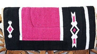 """COWGIRL 32""""x30""""x1"""" SADDLE PINK  PAD CUTTER BARREL SHOW TRAIL EQUINE HORSE TACK"""