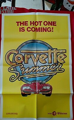 Corvette Summer Original Movie Poster The Hot One is Coming 1978 MGM