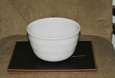 "Vtg GE 7-3/8"" White Milk Glass 2 Qt Mixing Bowl Ribbed Heavy for Electric Mixer"
