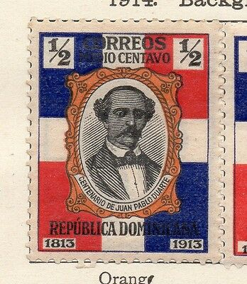 Dominican Republic 1914 Early Issue Fine Mint Hinged 1/2c. 121869