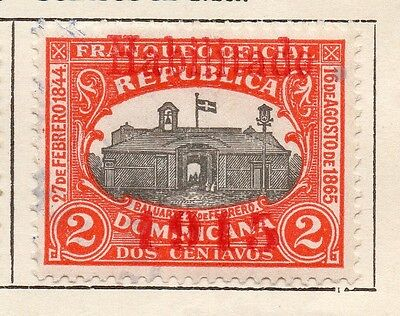 Dominican Republic 1914 Early Issue Fine Used 2c. Optd 1915 121878