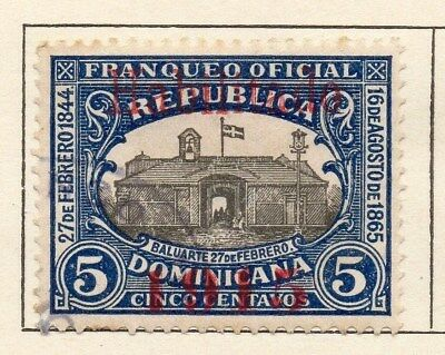 Dominican Republic 1914 Early Issue Fine Used 5c. Optd 1915 121879