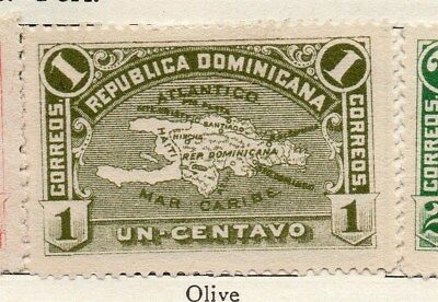Dominican Republic 1900 Early Issue Fine Mint Hinged 1c. 121884