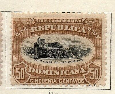 Dominican Republic 1902 Early Issue Fine Mint Hinged 50c. 121904