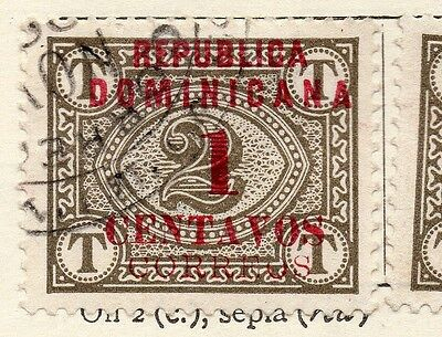 Dominican Republic 1904 Early Issue Fine Used 1c. Surcharged Optd 121910