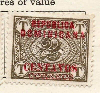 Dominican Republic 1904 Early Issue Fine Mint Hinged 2c. Optd 121911