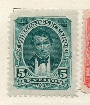 Ecuador 1895 Early Issue Fine Mint Hinged 5c. 121928