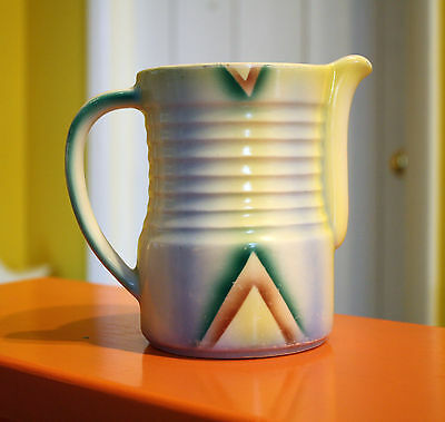 Vintage Airbrushed Czech Pitcher