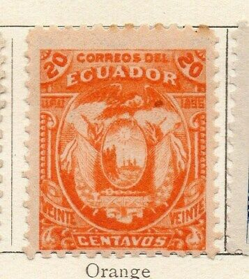 Ecuador 1896 Early Issue Fine Mint Hinged 20c. 121947