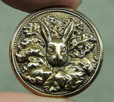 Brass Picture Button ~ Peter Rabbit In A Cabbage Patch    Metal