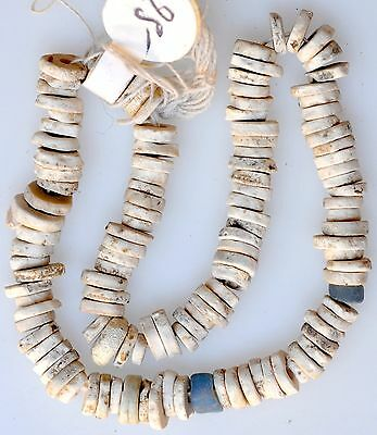 """8"""" Strand African-made Excavated Ostrich Egg Shell Beads"""