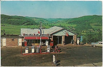 Jack & Gale Lookout Service Station West of Port Allegany PA Postcard