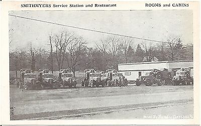Smithmyers Service Station and Restaurant East of Cresson PA Postcard