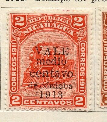 Nicaragua 1913 Early Issue Fine Mint Hinged 1/2c. Surcharged Optd 122109