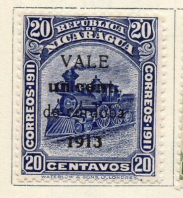 Nicaragua 1913 Early Issue Fine Mint Hinged 1c. Surcharged Optd 122113