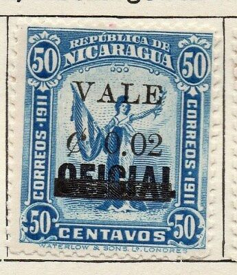 Nicaragua 1914 Early Issue Fine Mint Hinged 2c. Surcharged Optd 122126