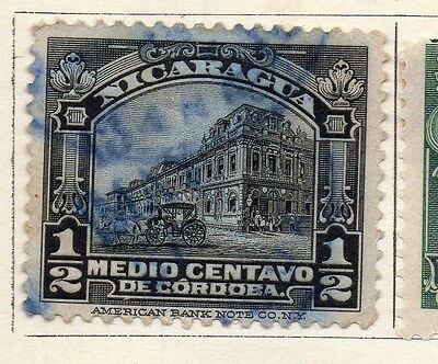 Nicaragua 1914 Early Issue Fine Used 1/2c. 122129