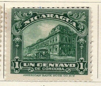 Nicaragua 1914 Early Issue Fine Mint Hinged 1c. 122130