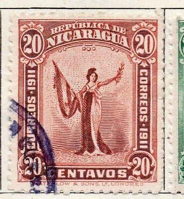 Nicaragua 1912 Early Issue Fine Used 20c. 122158