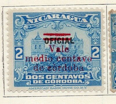 Nicaragua 1921 Early Issue Fine Mint Hinged 1/2c. Optd Surcharged 122182