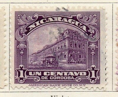 Nicaragua 1922 Early Issue Fine Used 1c. 122192
