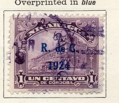 Nicaragua 1924 Early Issue Fine Used 1c. Optd 122199