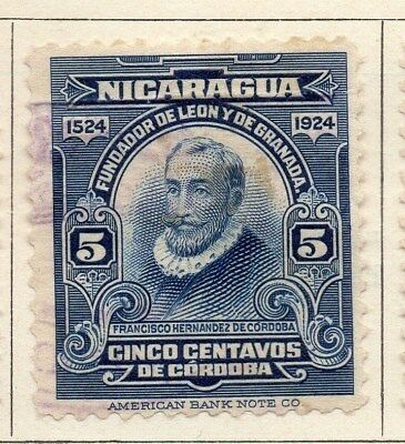 Nicaragua 1924 Early Issue Fine Used 5c. 122202