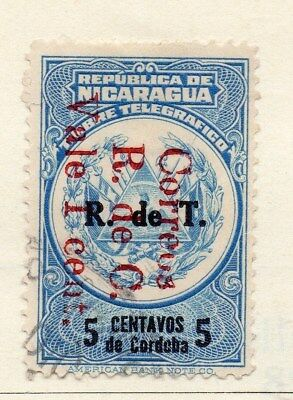 Nicaragua 1928-29 Early Issue Fine Used 1c. Optd Surcharged 122208