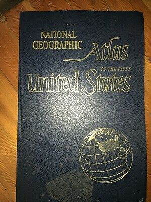 Vintage National Geographic Atlas of the Fifty United States, Large, 1960