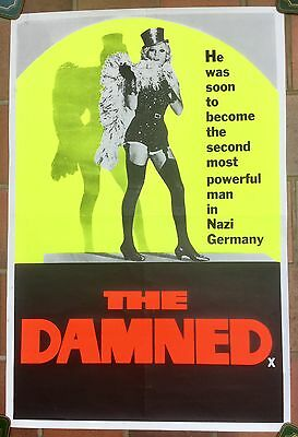 """The Damned UK Double Crown 20"""" x 30""""  film poster  * rare *"""
