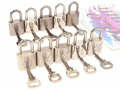 r2657 Auth LOUIS VUITTON 10 Pairs of Locks and Keys Matte/Silver HW