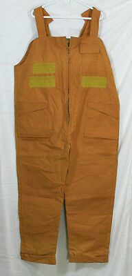 Vintage Bill Boatman & Co Brush Busters Men's Heavy Cotton Hunting Overalls Xl