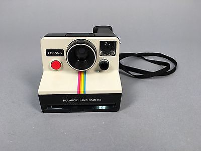 Vintage Sx-70 Polaroid One Step Land Camera W/ Rainbow Stripe Instant Pictures