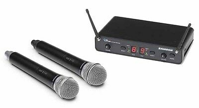 Samson Concert 288 Dual Handheld Wireless Microphone System- H Band