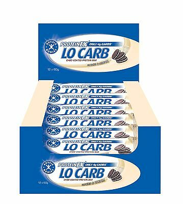Aussie Bodies Lo Carb Cookies and Cream 2 Boxes of 12 Bars