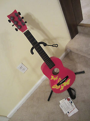 First Act Discovery Beginners Acoustic Guitar Pink Butterflys Model FG196