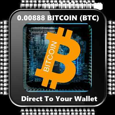 0.00888 Bitcoin (BTC)-Mined Bitcoin - Direct To Your Wallet - By CryptoCoinShop
