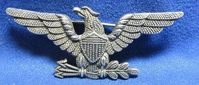 WWI Sterling Army or USMC Colonel Rank War Eagle Insignia by W.C. Link RARE
