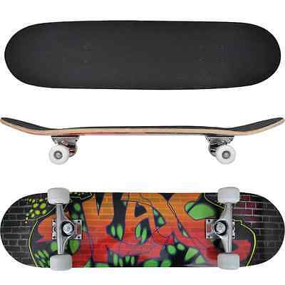 Complete Longboard Wheels Skateboard 79cm 9 Ply Maply Cruiser Deck Sector Oval