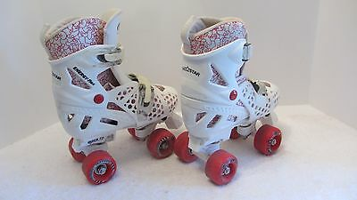 Roller Derby Trac Star Energy Flex Roller Skates  Pink and White