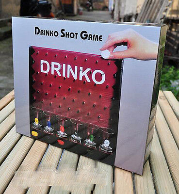 Drinko Adult Shot Drinking Game with 6 Shot Glasses 6 Players for Party